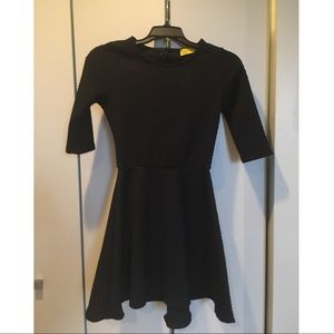 Black three quarter length dress